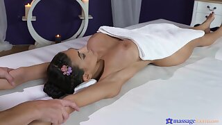 Desirable brunette Heather Vahn takes his dick in her mouth and pussy