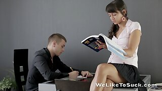 Dude's sweet private teacher is an inferno of passion and she can fuck