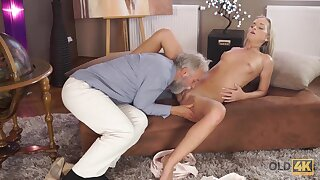 Old Geography Teacher Fucks Slutty Blonde