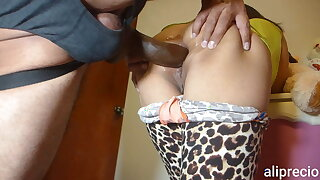 I get fucked hard in my ass by a long thick black cock