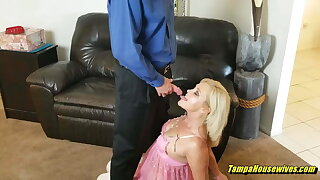 Horny Housewife Plays Slutty Roles to Get Fucked