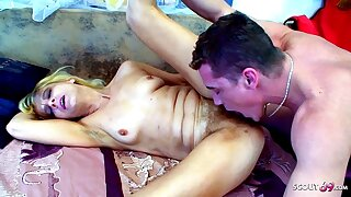 Hairy Pussy STEPMOM caught and seduced to fuck by STEPSON