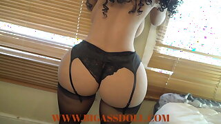 Brazilian Beauty with a Big Booty with Curly Hair Showing her Hot Ass