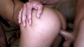 Petite maid gets paid in meat this week and she seems to love it