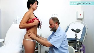 Lush Bearded Medico Engages Thin Damsel's Milk Cans Examination