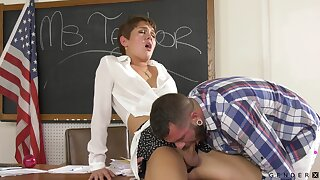 Pretty young teacher Daisy Taylor turned out to be a transsexual