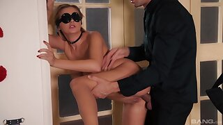 Deep home porn in amateur BDSM tryout for the amazing blonde