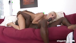 Black man enjoys proper 69 oral with this cutie before fucking her down