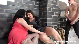 Mature feels young again thanks to her niece who shared cock with her