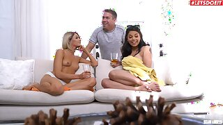 Fun-loving Gina Valentina and Emma Hix engage in taboo relations