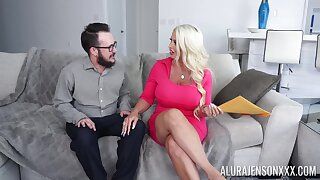 Hot cougar with thick ass, insane couch sex with a younger male