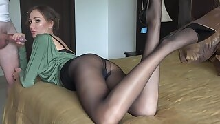 Escort With Sexy Nylons Getting Fucked