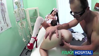 Spy Web Cam Filmed Wanton And Randy Three-Way Fuck-Fest With Nasty Medic