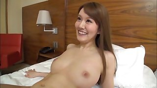 Long haired blonde Japanese with small tits rides hard dick on tap a hotel
