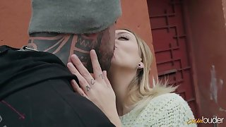 Tattooed butch fucks Spanish chick Yuno Love and cums in her mouth